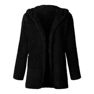 NE PEOPLE Womens Lightweight Soft Fleece Faux Fur Hooded Coat Jackets NEWJ214