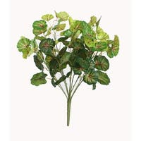 """18.5"""" Decorative Artificial Two Tone Green Begonia Spring Floral Bush"""
