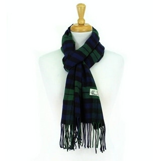 Plaid Cashmere Feel Classic Soft Luxurious Scarf For Men and Women - Green