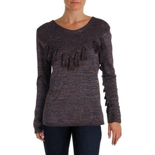 Scotch & Soda Womens Pullover Sweater Tassel Metallic