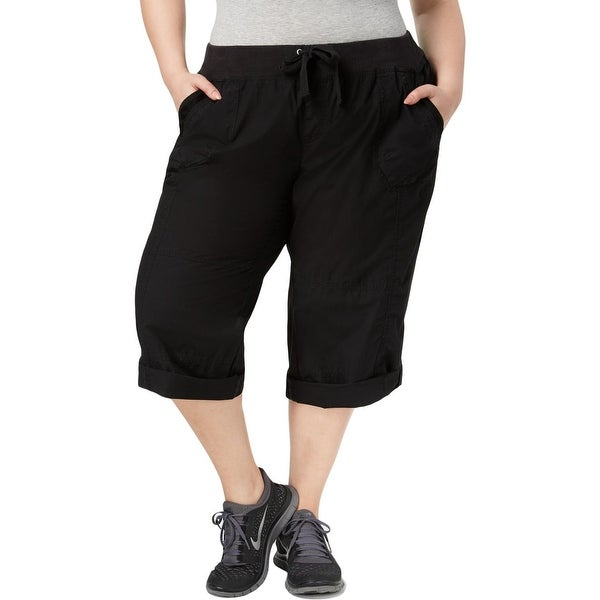 20666e18f53645 Shop Calvin Klein Performance Womens Plus Athletic Pants Cargo Roll ...