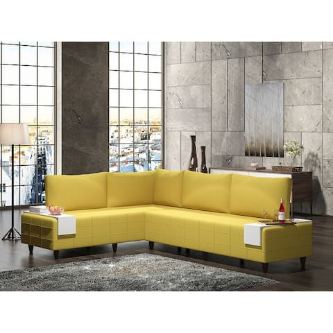 Modern Metal Frame with Foam Seat Sectional Sofa
