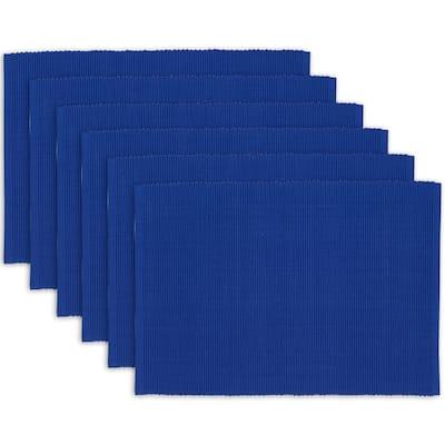 "DII Blue Jay Placemat Set, 13x19"", 6 Piece"