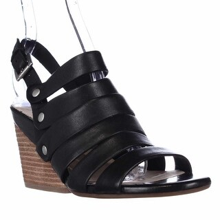 Naya Lassie Strappy Wedge Sandals - Black