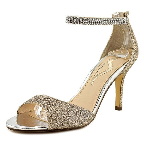Nina Varetta Women Open Toe Synthetic Gold Sandals
