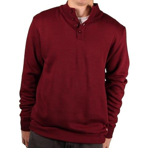 Ecko Unltd. Men's Solid Button Sweater