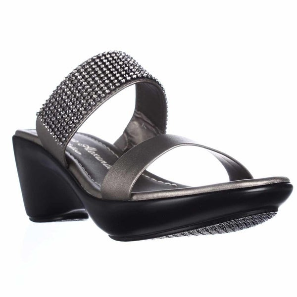 Athena Alexander Jezzie Sparkle Slide Sandals, Pewter