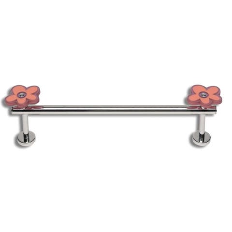 "Atlas Homewares KDTB12 12"" Center to Center Towel Bar - Polished Chrome"