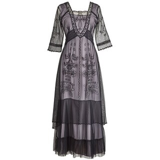 Women's Victoria Gown - Long Dress with Lacey Layers