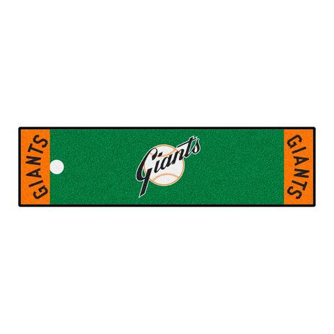 MLB - San Francisco Giants Retro Collection Putting Green Mat - 1.5ft. x 6ft. - (1947 New York Giants) - 1.5ft. X 6ft.