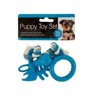 Puppy Teeth-Cleaning Toy Set - Pack of 4