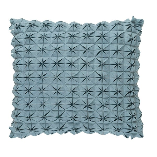 "22"" Origami Elegance Sea Star Gray Decorative Throw Pillow - Down Filler"