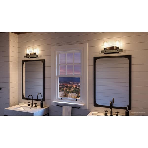 Luxury Modern Farmhouse Bathroom Vanity Light 8 5 H X 15 5 W With Rustic Style Charcoal Finish By Urban Ambiance Overstock 28670616