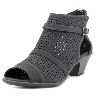 Easy Street Carrigan Women W Peep-Toe Synthetic Black Bootie