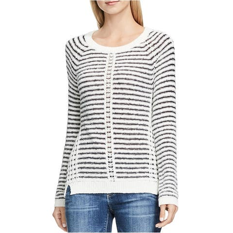 Vince Camuto Womens Textured Messy Knit Pullover Sweater