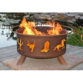 Patina Products F109 Western Cowboy Fire Pit - bronze