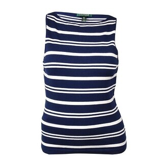 Lauren Ralph Lauren Women's Striped Sleeveless Sweater