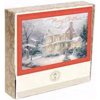 Dayspring Cards Card - Boxed-Merry Christmas-Kinkade - Box of 18