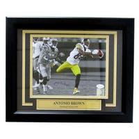 Antonio Brown Signed Framed Pittsburgh Steelers 8x10 Spotlight Photo JSA