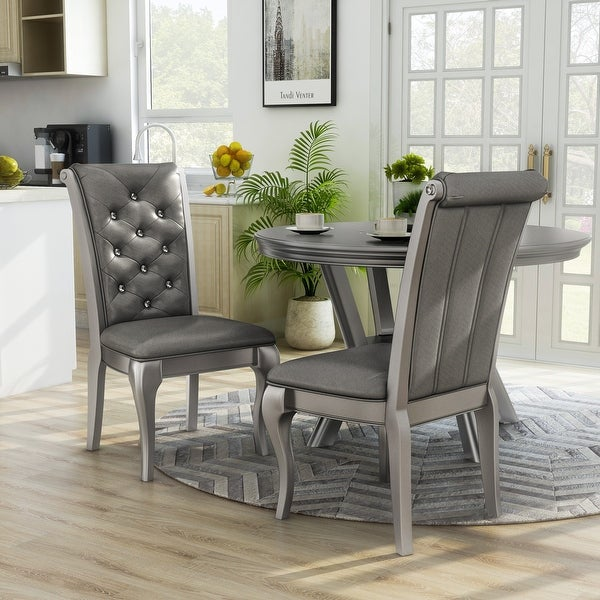 Furniture of America Mora Champagne Dining Chairs (Set of 2). Opens flyout.