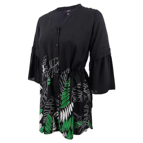 09d526855a3d Alfani Women's Drawstring-Waist Tunic (XXL, Graphic Leaves) - Graphic  Leaves -