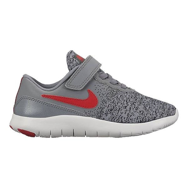 0f2c2ab6ad20c Nike Kids Flex Contact Little Kid Cool Grey University Red Anthracite Boys  Shoes -