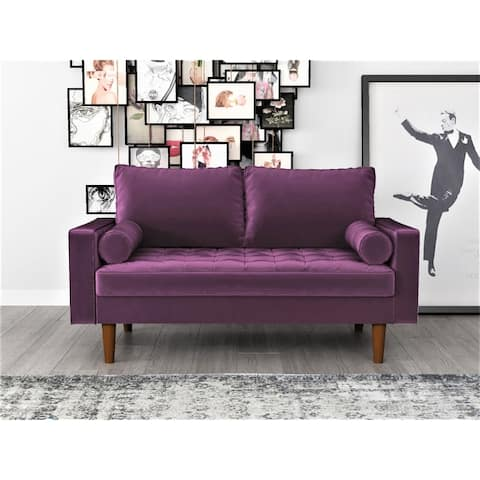 Container Furniture Faux Leather Mid-century Sofa