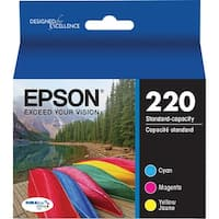 Epson 220 Ink Cartridge - C/M/Y Epson DURABrite Ultra Ink T220 Ink Cartridge - Cyan, Yellow, Magenta - Inkjet - Standard