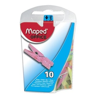 Maped Helix USA 1582542 Mini Clips in Dispenser, Pack of 10