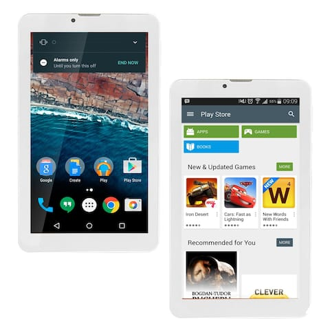 Indigi 7-inch Tablet , Dual-Core CPU 1.3GHz , 4 GB (microSD Expandable) Android 6.0 WiFi - Easy To Use (White)