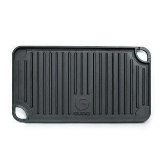 """GURO Cast Iron Pre-Seasoned Dou'ble Play Grill / Griddle (17"""" x 9"""")"""