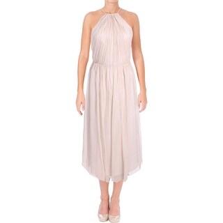 Vera Wang Womens Cocktail Dress Chiffon Shimmer
