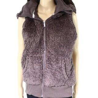 Kensie NEW Purple Womens Size Large L Sherpa Full-Zip Hooded Jacket