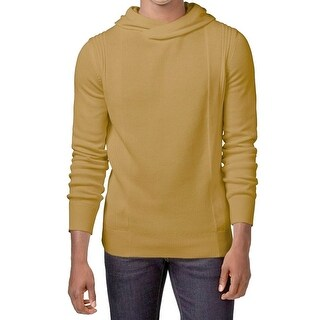 Sean Johns Gold Brown Men's Size XL Crossover Hooded Knit Sweater