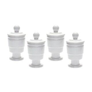 Dimond Home 857118/S4 White Polar Filled Votive - Set Of 4
