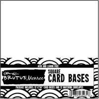"White - Brutus Monroe Cards W/ Envelopes 6""X6"" 12/Pkg"