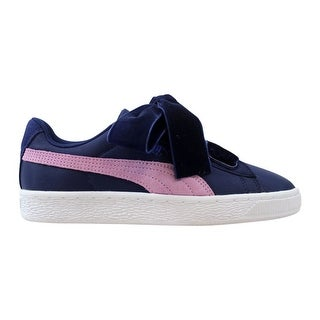 reputable site d5d0f 628e8 Puma Women's Basket Heart Nylon Blue Depths/Smoky Grape 364954 01 |  Overstock.com Shopping - The Best Deals on Athletic