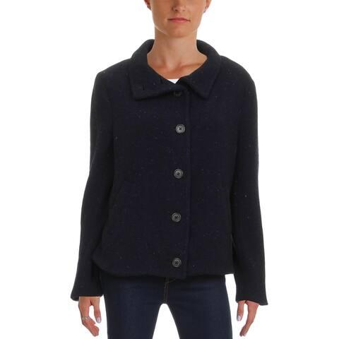 Lauren Ralph Lauren Womens Wool Coat Fall Lightweight