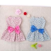 Summer Pet Dog Skirt Puppy Floral Skirt Small Dog Princess Bow Dress