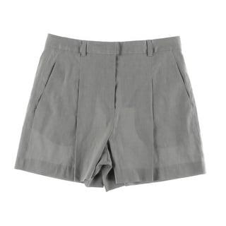 DKNY Womens Casual Shorts Linen Pleated