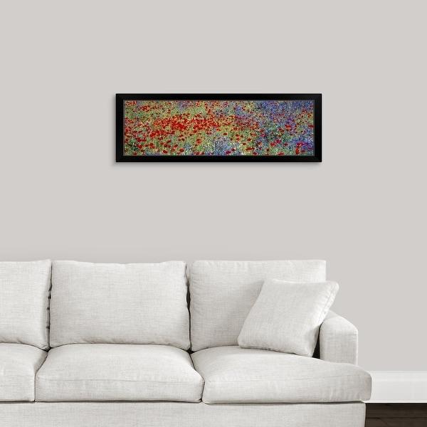 """Wildflowers Andalucia Spain"" Black Framed Print"