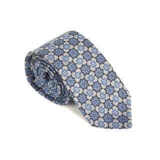 Luigi Borrelli Napoli Mens Grey 100% Lana Blend Geometric Tie - One size