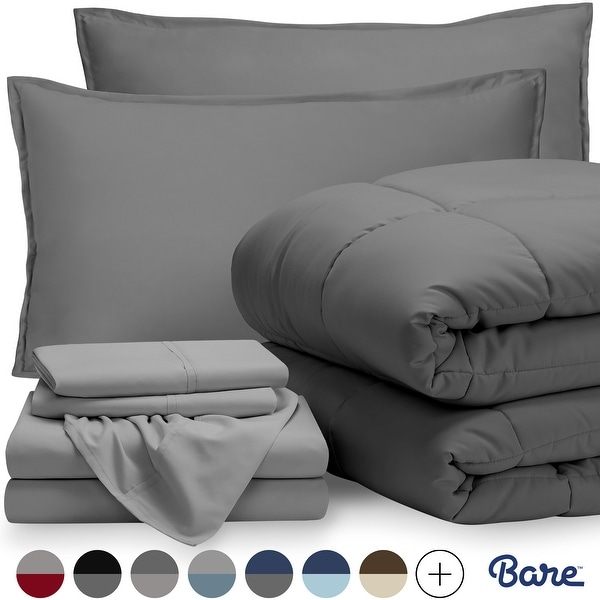 Bare Home Bed-in-a-Bag Down Alternative Comforter & Sheet Set. Opens flyout.