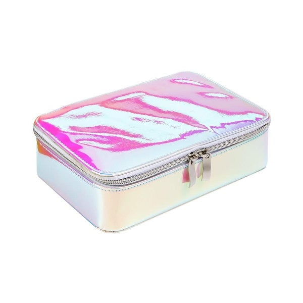 Twelve NYC Womens Jewelry Organizer Metallic Travel Case