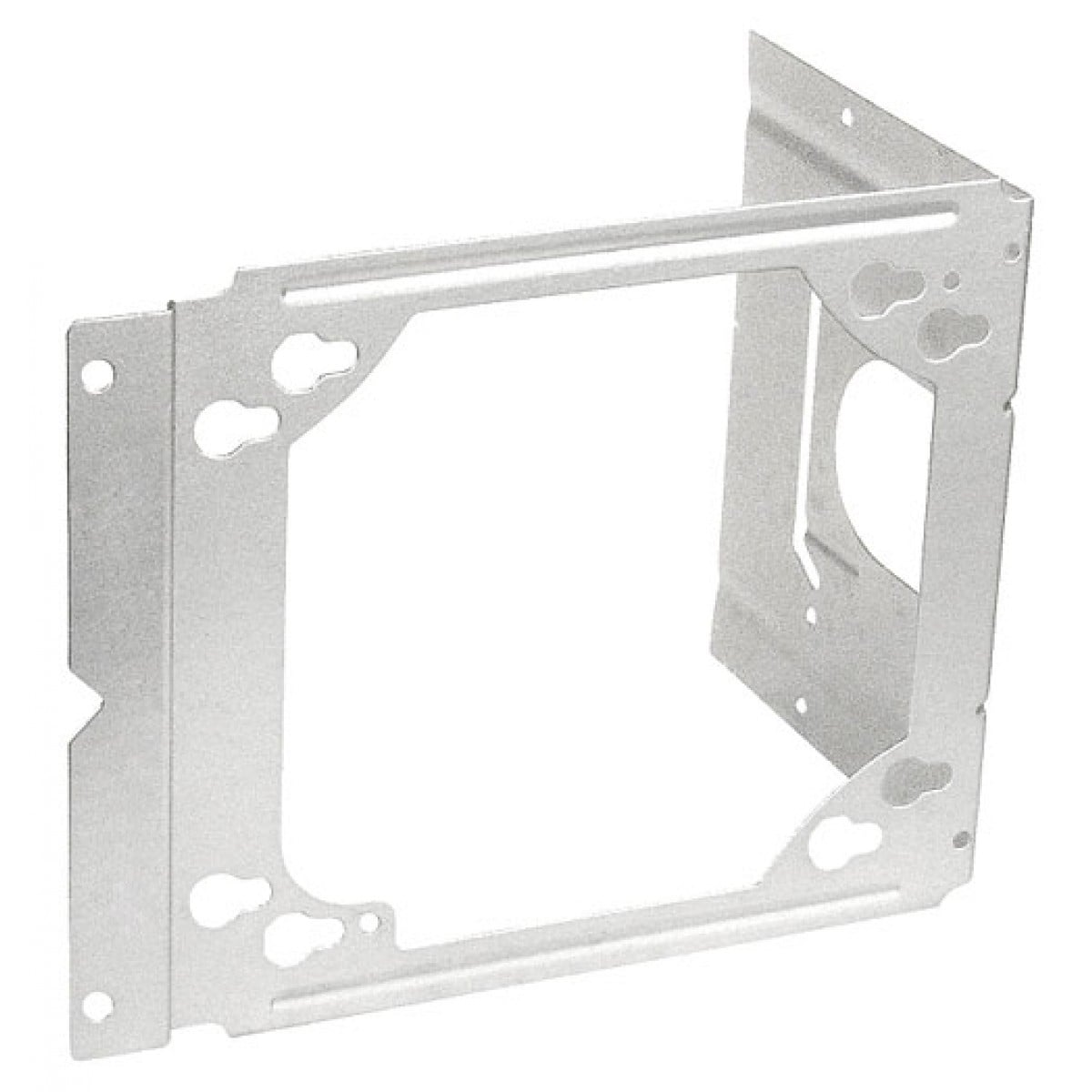 10 Pcs, Universal Box Mounting Bracket, 2-1/2 or 3-5/8 in. Stud Wall Depth, Zinc Plated Steel