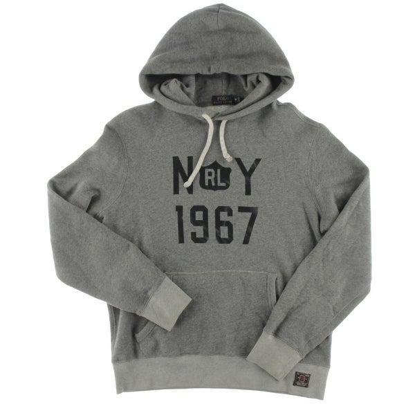 96cf550bf Shop Polo Ralph Lauren Mens Hoodie Graphic Heathered - M - Free Shipping On  Orders Over  45 - Overstock - 19625666