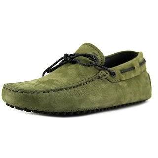 Tod's Laccetto My Colors New Gommini 122 Youth Moc Toe Leather Green Loafer