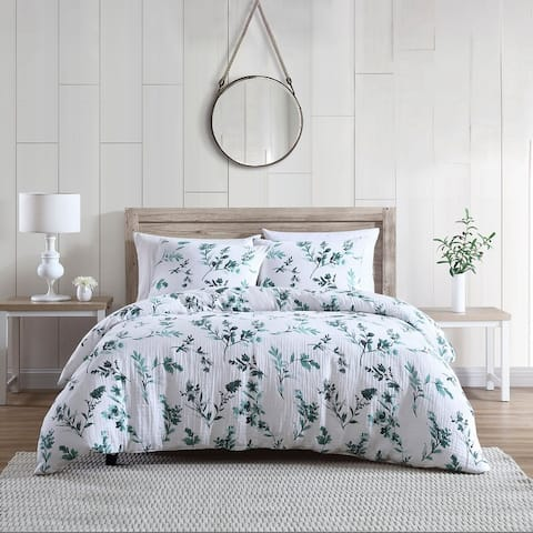 Brielle Home Gardiner Floral Printed Comforter Set