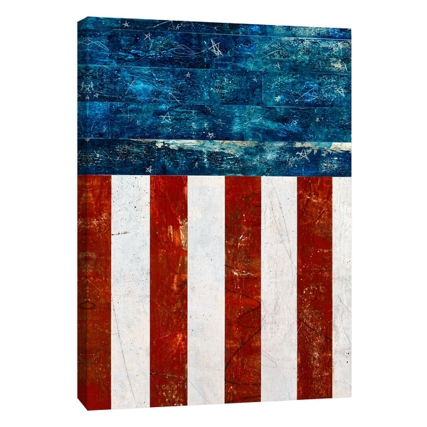 """PTM Images 9-108527 PTM Canvas Collection 10"""" x 8"""" - """"Americana 2"""" Giclee American Art Print on Canvas"""