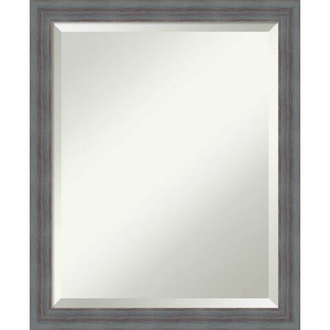 Wall Mirror, Dixie Grey Rustic Wood